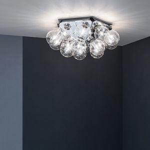 plafonnier contemporain / en acier / en aluminium poli / à LED