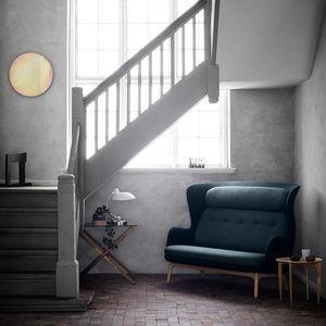 canapé contemporain / en tissu / en bois / en aluminium brossé