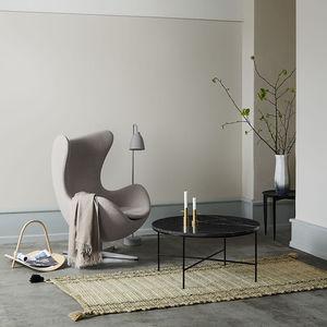 table basse contemporaine / en marbre / avec piètement en acier thermolaqué / rectangulaire