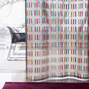 voilage à motif / en satin / en polyester / lavable