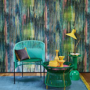 papier peint contemporain / en tissu / à motif floral / à motif nature