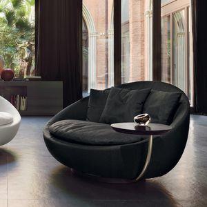 fauteuil contemporain / en tissu / en cuir / en métal laqué