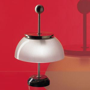 lampe de table / classique / en métal / en verre
