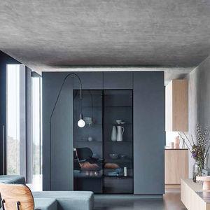 vitrine armoire contemporaine / totalement affleurante