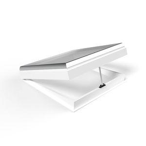 lanterneau pour toiture / avec costière / en PVC / en verre