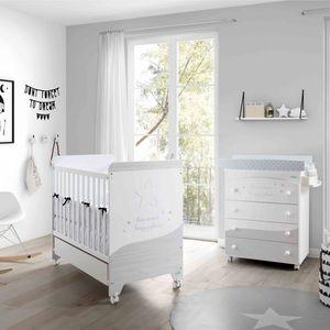 lit pour bébé contemporain / à roulettes / pour enfant (unisexe) / en bois laqué