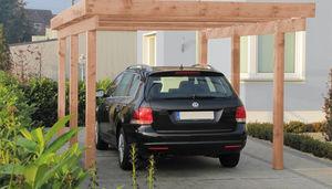 abri de voiture en bois