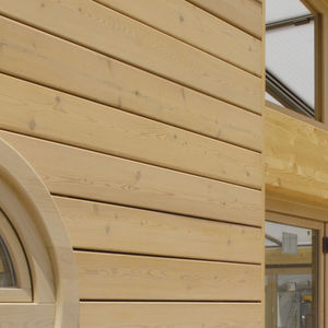panneau de construction en bois lamellé-collé / pour façade / pour plafond / sur mesure