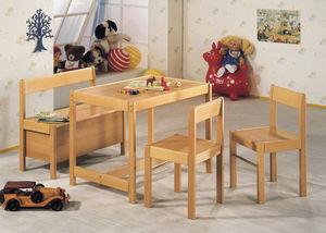 banquette contemporaine / en bois / pour enfant (unisexe) / avec dossier