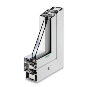 fenêtre basculante / en aluminium / à double vitrage