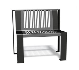 fauteuil urbain en métal