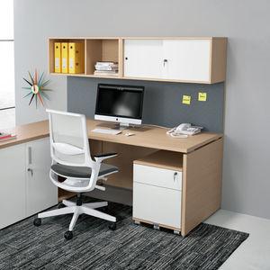 caisson de bureau en métal / à 3 tiroirs / à roulettes / à clé