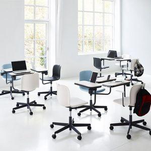 chaise de bureau contemporaine / à roulettes / piètement étoile / tapissée