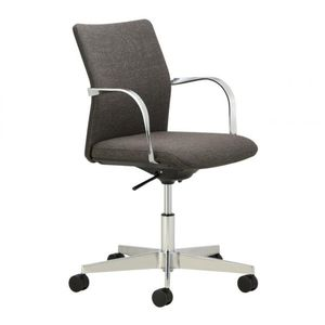 fauteuil de bureau contemporain / en tissu / aluminium / à roulettes