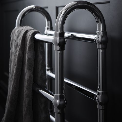 sèche-serviettes à eau chaude / en métal / classique / de salle de bain