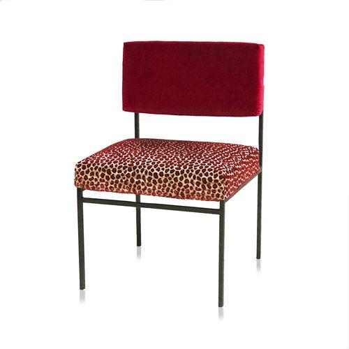 chaise de salle à manger contemporaine / tapissée / respectueuse de l'environnement / recyclable