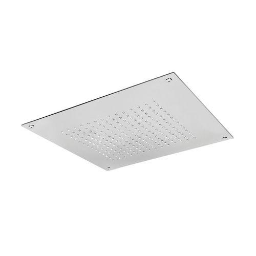 pommeau de douche encastrable au plafond / carré / pluie