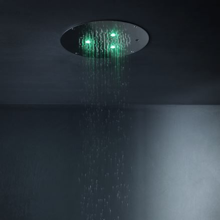 pommeau de douche encastrable au plafond / rond / pluie / cascade
