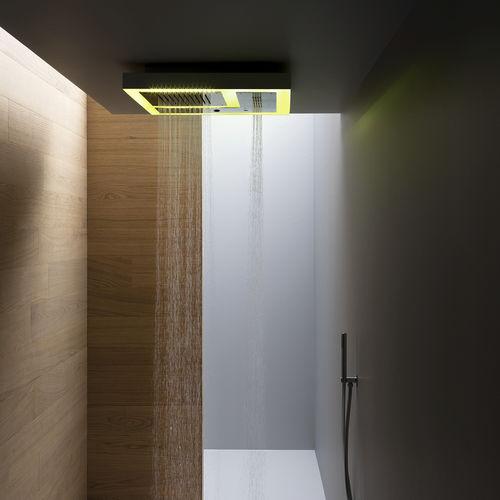 pommeau de douche encastrable au plafond / carré / pluie / cascade