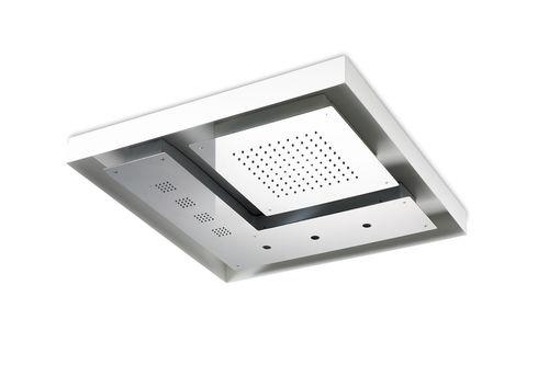pommeau de douche encastrable au plafond / carré / pluie / avec éclairage intégré