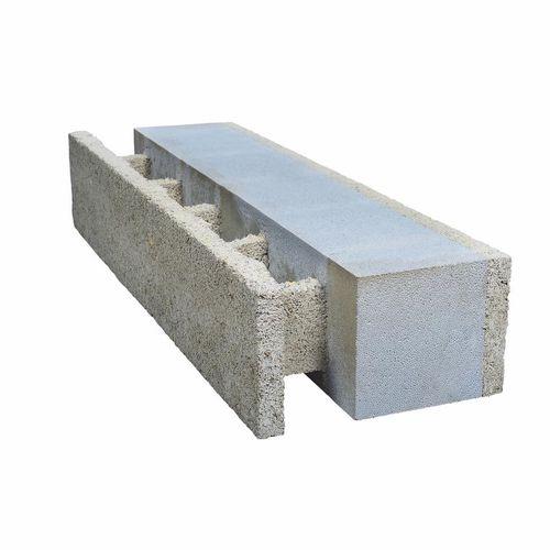 bloc coffrant en béton de bois / pour mur extérieur porteur / isolant