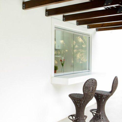fenêtre coulissante-empilable / en aluminium