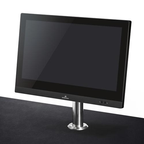 écran tactile pour table de conférence / sur plan / motorisé