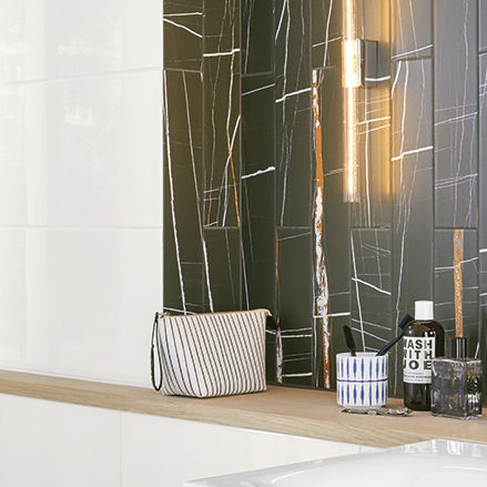 carrelage de salle de bain / mural / en faïence / 30x60 cm