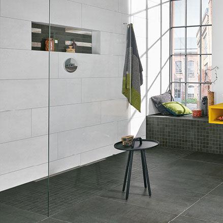 carrelage de salle de bain / mural / au sol / en grès cérame