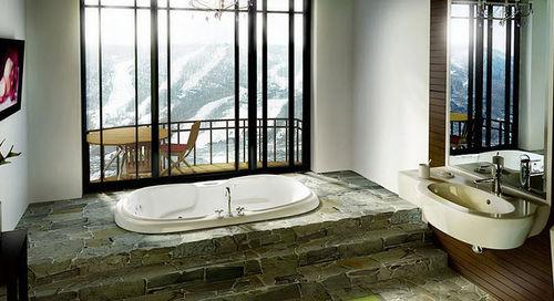 baignoire ovale / en acrylique