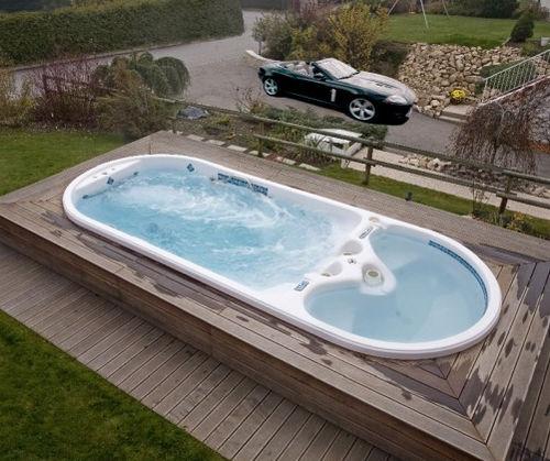 spa de nage encastrable / 6 places