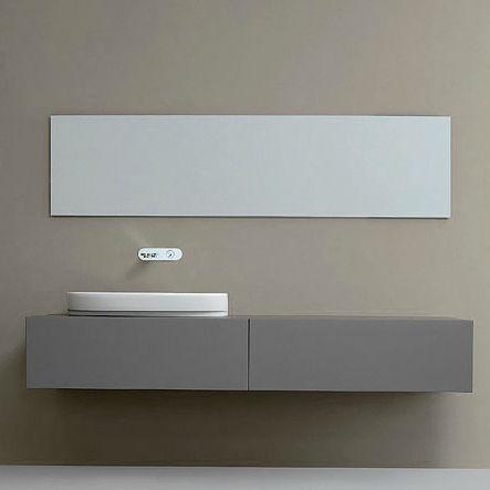 miroir de salle de bain mural / contemporain / rectangulaire