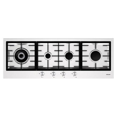 table de cuisson à gaz / en fonte / wok / avec brûleur à triple couronne