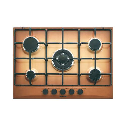 table de cuisson à gaz / avec brûleur à triple couronne / 5 foyers