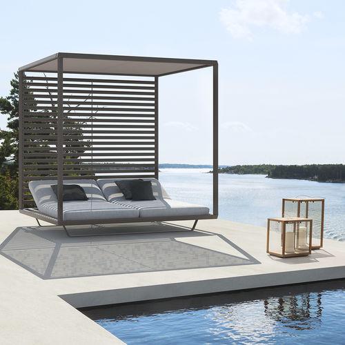 lit de jardin à baldaquin / double / contemporain / inclinable