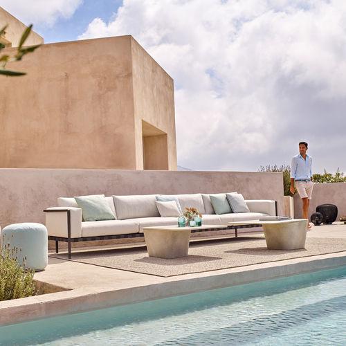 canapé modulable / contemporain / de jardin / de terrasse