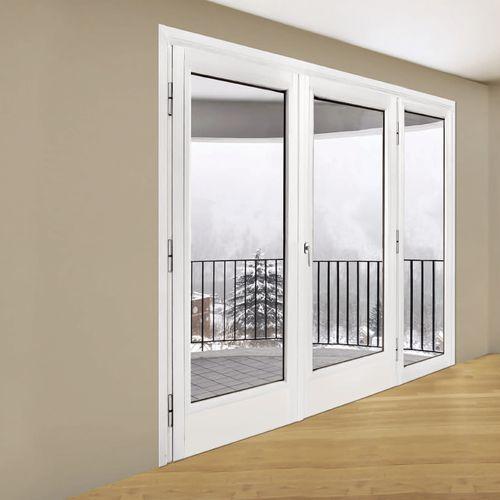 porte-fenêtre battante / en acier / à double vitrage / de sécurité