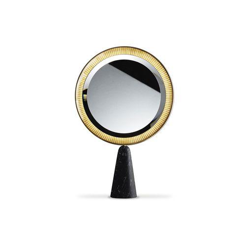 miroir à poser / lumineux (LED) / contemporain / rond