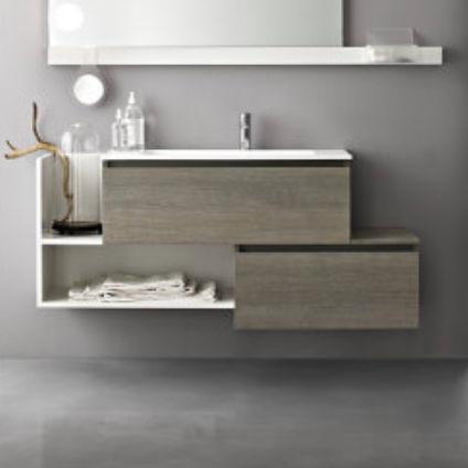 meuble vasque mural / en chêne / en marbre / contemporain