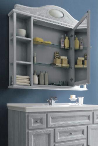 meuble vasque à poser / en bois / en marbre / classique