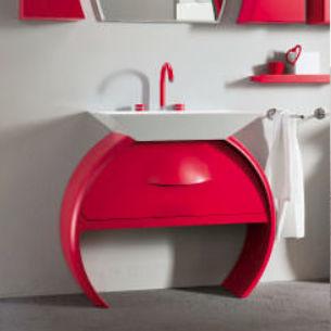 vasque sur pied / en céramique / contemporaine