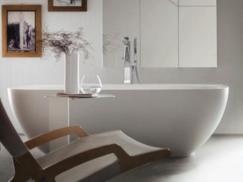 baignoire en îlot / ovale / en Solid Surface