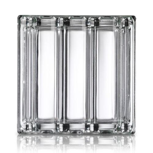 brique de verre carrée / métallisée / satinée / 3D