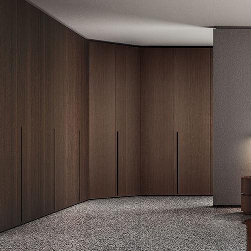 armoire d'angle / modulable / contemporaine / en bois laqué