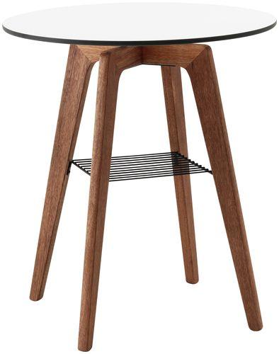 table bistrot contemporaine / en bois / en stratifié / ronde