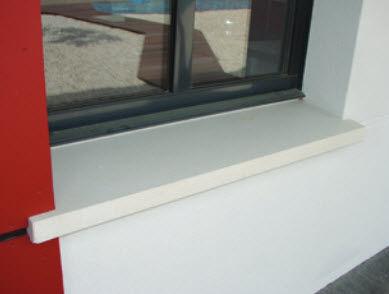 appui de fenêtre en polyuréthane / d'extérieur