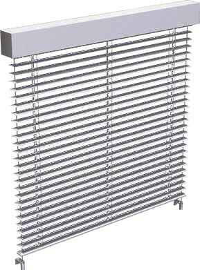 volet roulant / en aluminium / pour façade