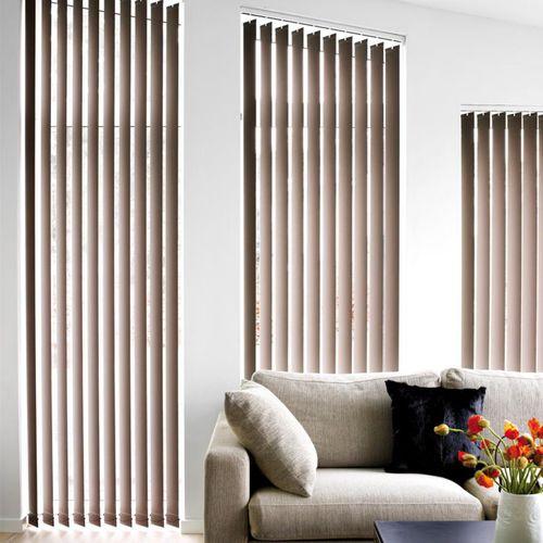 store à bandes verticales / en tissu / avec actionnement par chaînette / de protection solaire