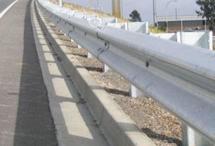 glissière de sécurité en acier galvanisé