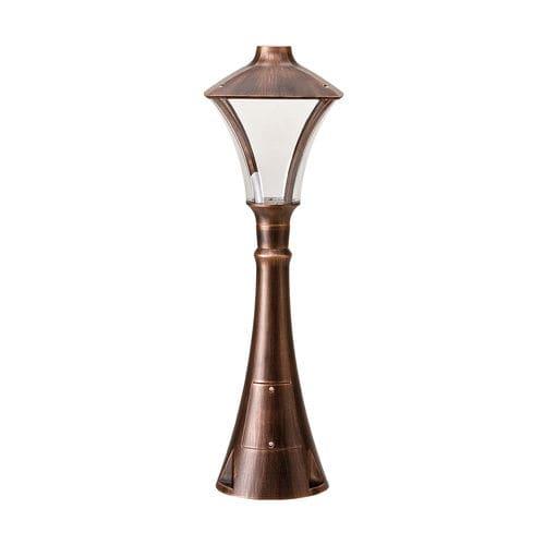 borne d'éclairage de jardin / classique / en fonte d'aluminium / en polycarbonate